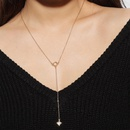 Simple wild sexy necklace alloy diamond mang star deep V collarbone necklace women NHXR201307