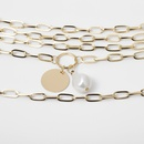 Metal Multilayer Cross Chain Sweater Chain Long Fashion Pearl Necklace Women39s Wholesale NHXR201314