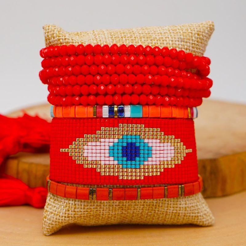 Fashion Miyuki Mizu Weaving Devil's Eye Bracelet with Tila Bead Crystal Set wholesales fashion NHGW201368
