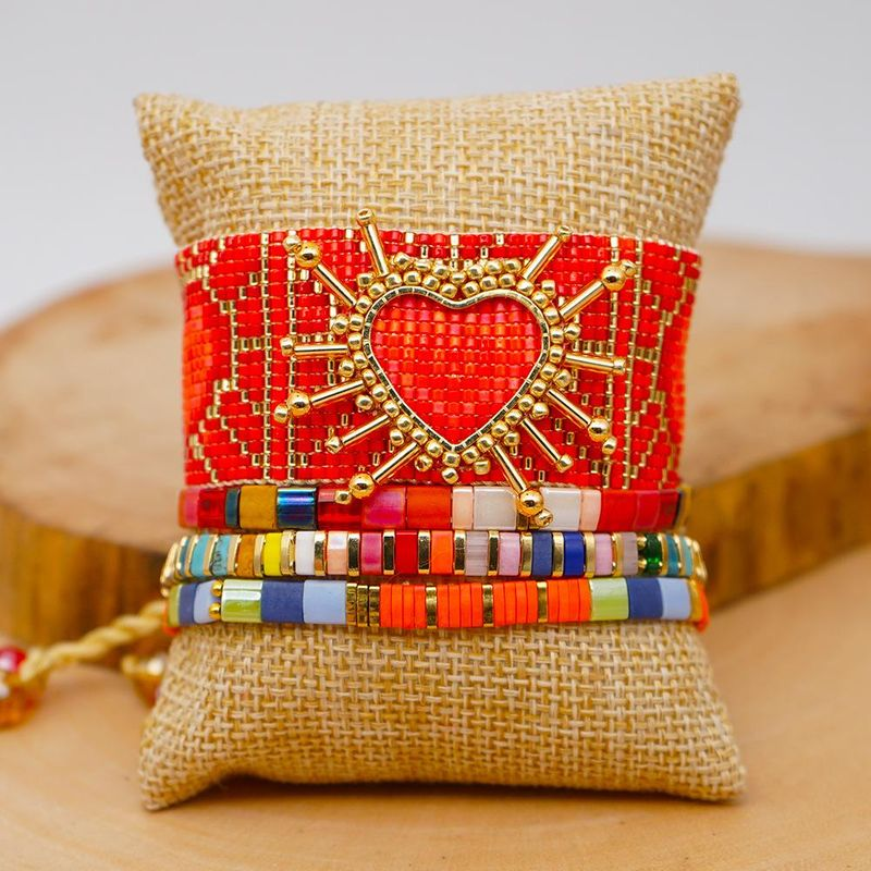 Jewelry Miyuki rice beads hand-woven red love crystal para mujer bracelet tila beads wholesales fashion NHGW201372