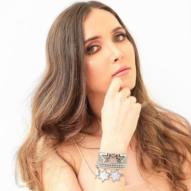 Women's Bracelet Miyuki Beaded Geometric Shape with 4mm Gold Bead Crystal Ornaments NHGW201374