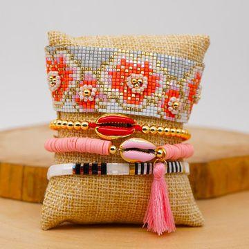 Fashion Miyuki Rice Bead Woven Plum Pattern Female Bracelet with Tila Bead Set Bracelet NHGW201381