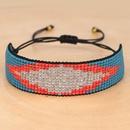 Miyuki Mizhu Hand Woven Devil39s Eye Crystal Set Ethnic Fashion Bracelet wholesales fashion NHGW201383