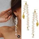 French natural freshwater pearl irregular long earrings fashion baroque beaded earrings simple earrings women NHYQ201400