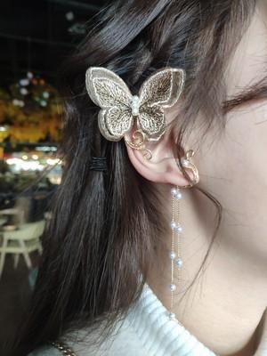Pendientes de elfo bordado de mariposa pendientes perforados pendientes retro al por mayor NHYQ201404's discount tags