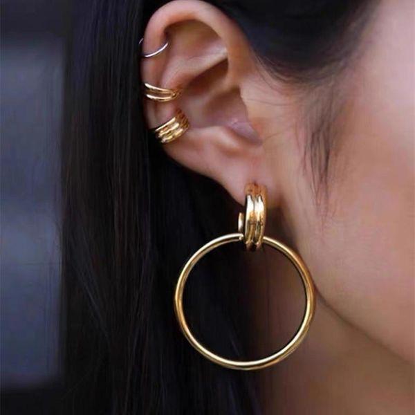 French simple retro niche metal design wild design earrings wholesales fashion NHYQ201408