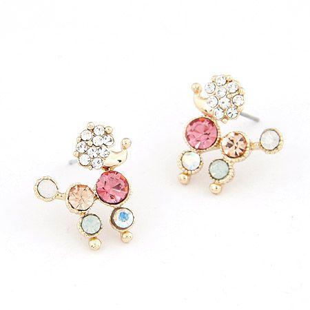 Korean fashion princess dog temperament earrings NHSC201831
