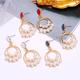 Korean fashion sweet simple circle pearl earrings NHSC201821