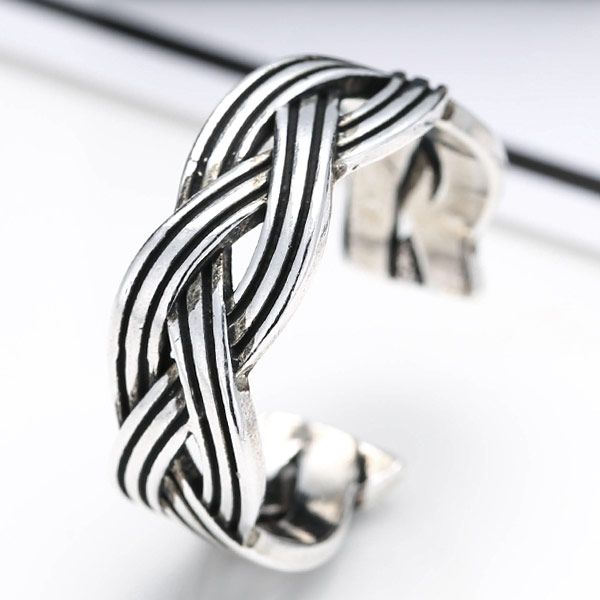New Fashion Metal Imitation Thai Silver Open Ring NHSC201814