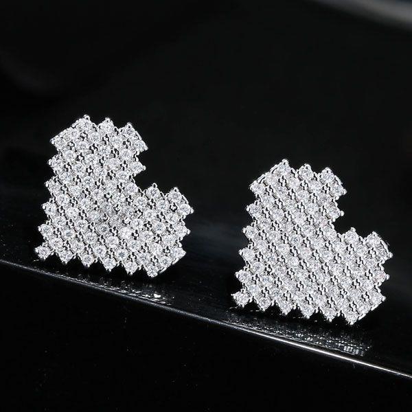 Boucles d39oreilles amour diamant doux mode corenne NHSC201811