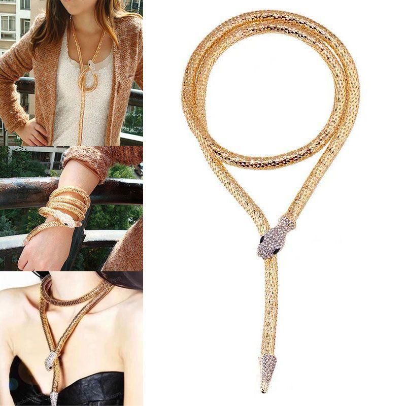 New Fashion Metal Trend Metal Snake Necklace NHSC201809