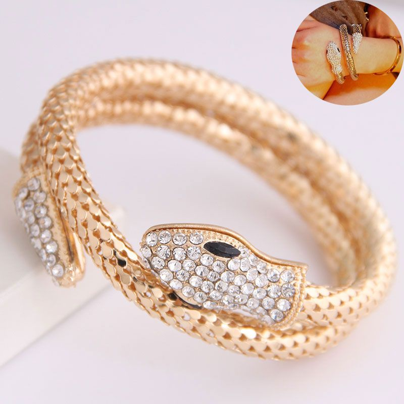 New Fashion Metal Trend Metal Snake Exaggerated Bangle NHSC201808