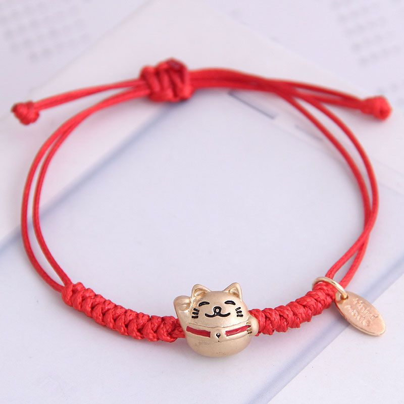 Korean fashion sweet red rope female bracelet NHSC201806