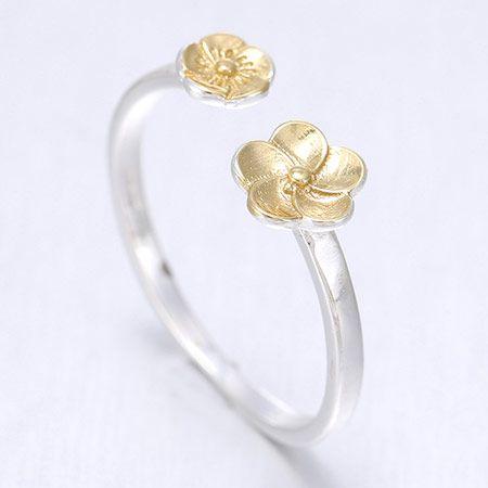 Korean Fashion Sweet Flower Open Ring NHSC201788
