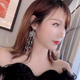 Fashion Earrings Capture Mesh Pearl Tassel Exaggerated Earrings NHSC201784