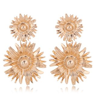 Fashion earrings sweet OL metal sun flower NHSC201782's discount tags