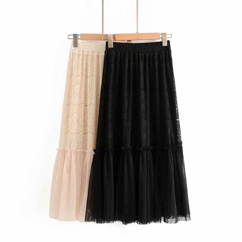 Fashion women 'clothes wholesale spring lace screen skirt skirt NHAM201447