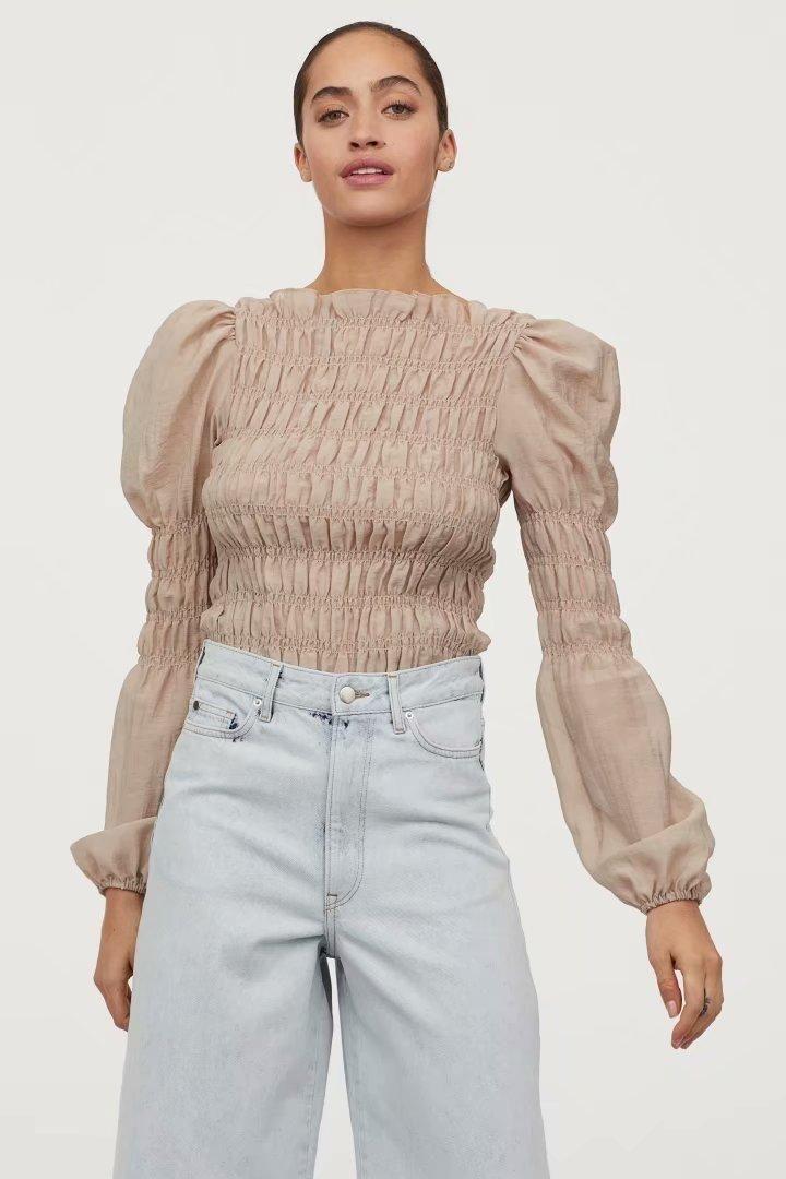 Wholesale Spring Pure Pullover Elastic Pullover Women's T-Shirt NHAM201452