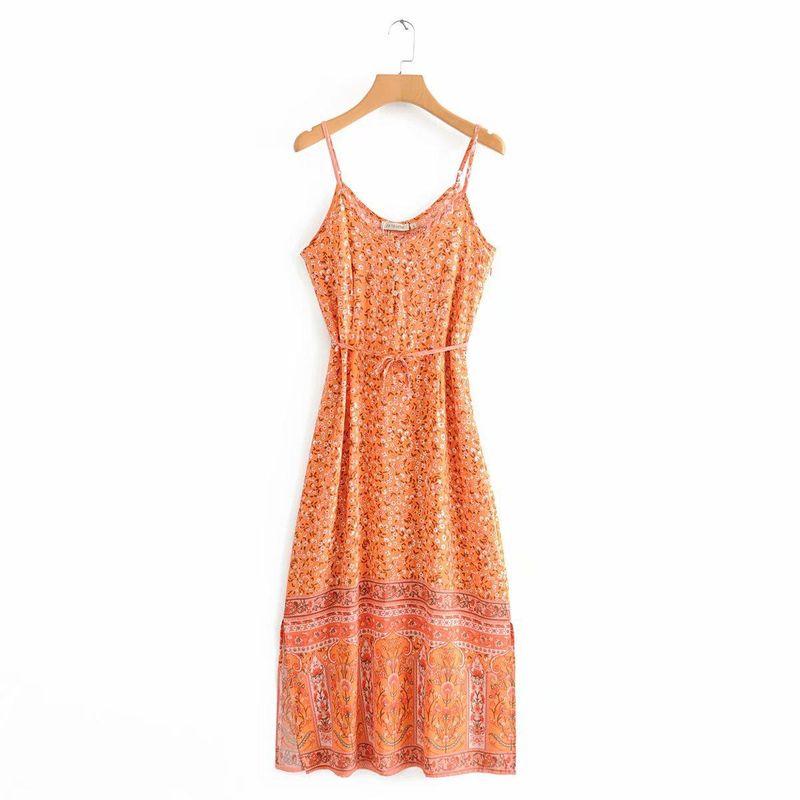 Wholesale new suspender dress seaside vacation style skirt skirt long skirt NHAM201460