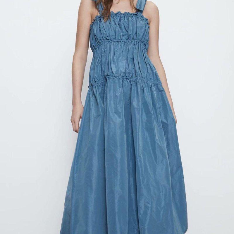 Fashion women 'dress New Fashion Bow Taffeta Dress Wholesale NHAM201465