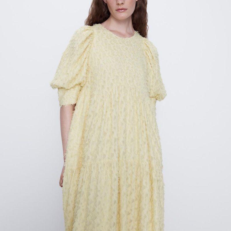 Fashion women 'dress new fashion spring textured loose dress long skirt wholesale NHAM201468