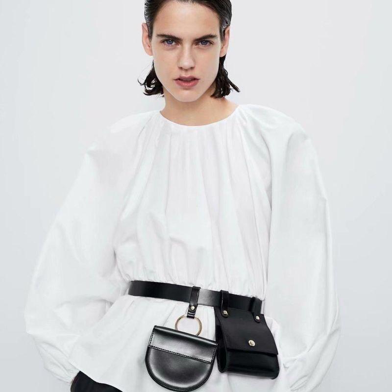 Fashion Wholesale Spring Puff Sleeve Blouse NHAM201470