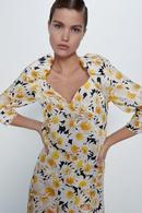 Wholesale new Vneck shirt small shirt flower print square collar top NHAM201481