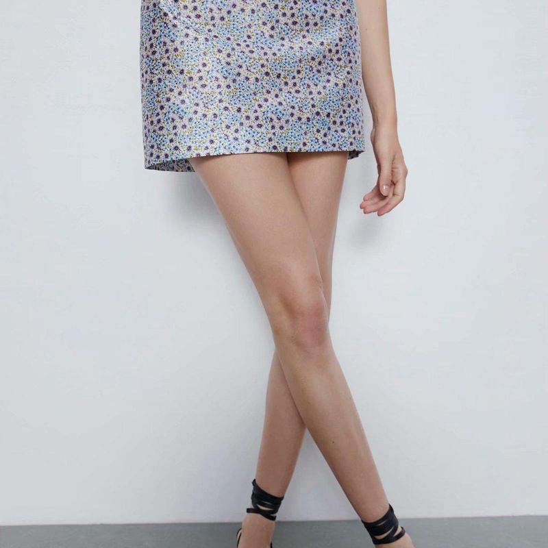 Fashion women 'dress wholesale new women's floral print mini skirt NHAM201493