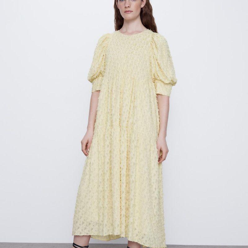 Batch of new women's textured loose dresses NHAM201494