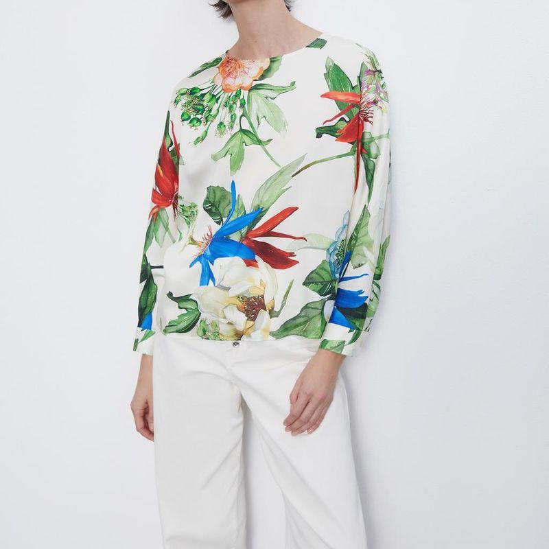 Wholesale New Women's Printed Sweater Pullover Shirt Top NHAM201503