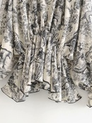 Wholesale Spring and Summer New Ink Print Chiffon Shirt VNeck Long Sleeve Top NHAM201530