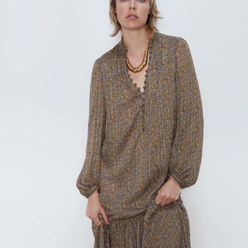Wholesale Spring Print Fashion Long Sleeve Dress NHAM201538