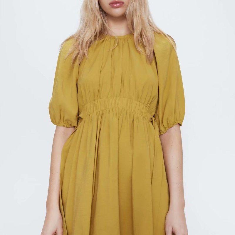 Fashion women 'dress wholesale spring bow design dress NHAM201549