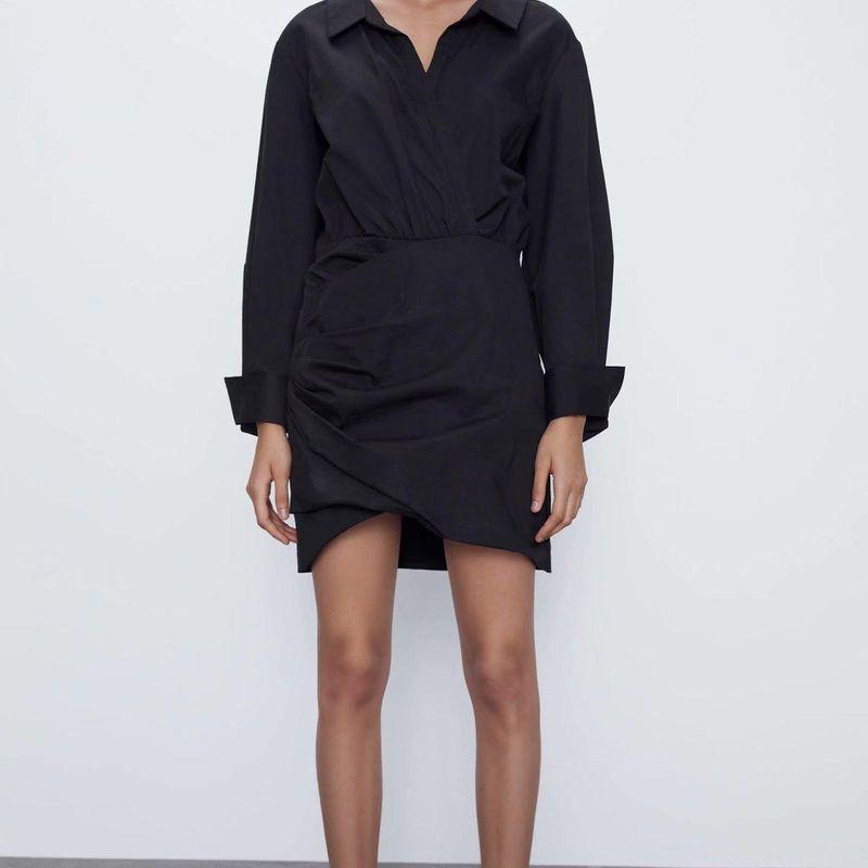 Fashion women 'dress Wholesale Spring Long Sleeve Shirt Short Dress NHAM201550