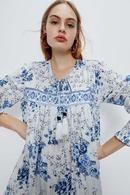 Fashion women 39dress wholesale spring printed longsleeved loose long dress NHAM201551