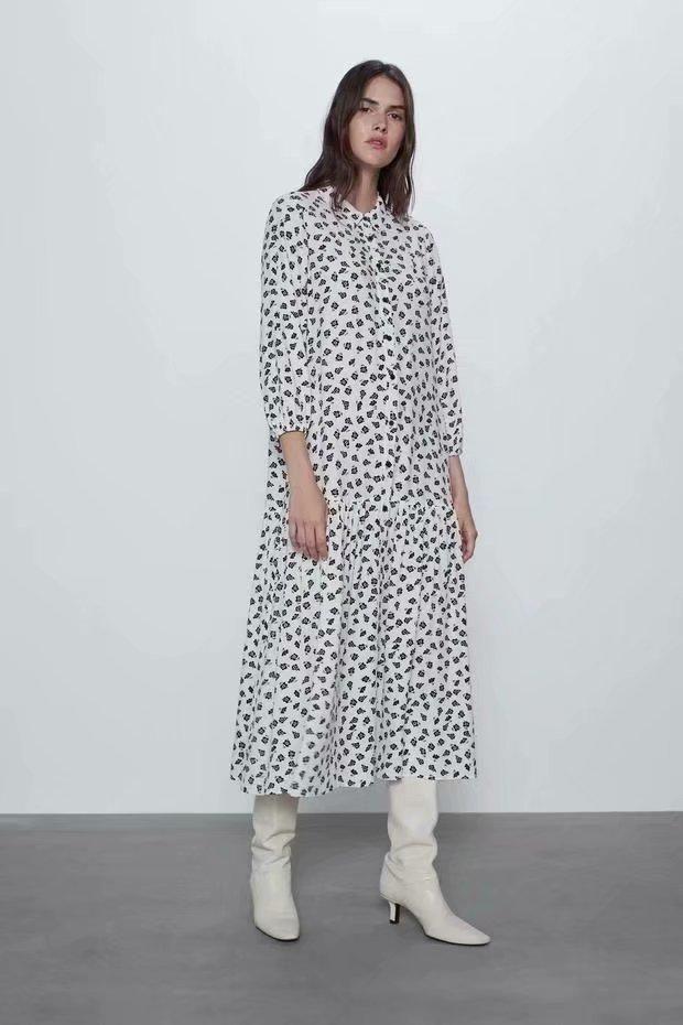 Fashion women 'dress wholesale flower print dress NHAM201557