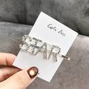 Alphabet hair clip hair accessories flash diamond letters personalized hair accessories hair clips NHSC201779