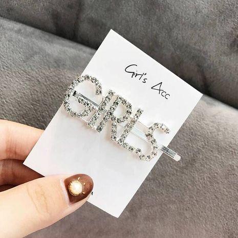Alphabet hair clip hair accessories flash diamond letters personalized hair accessories hair clips NHSC201778's discount tags
