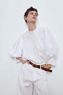 Fashion Blouse Tops Spring Jacquard Laminate Tops Wholesale NHAM201575