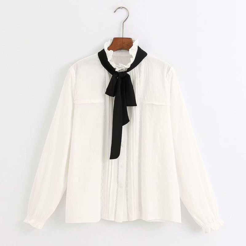 Fashion Top wholesale new lace bow shirt NHAM201578