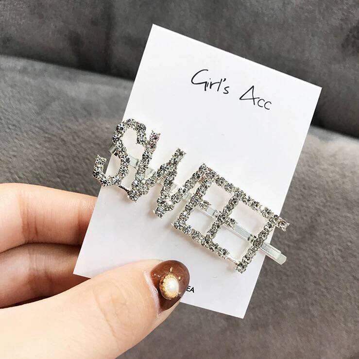 Casual cute flash diamond alphabet hair accessory wholesales fashion NHSC201777