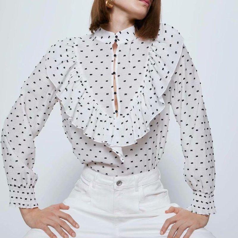 Fashion Wholesale Spring Tulle Blouse Top NHAM201593