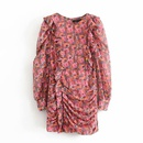 Fashion women 39dress new pleated printed dress wholesale NHAM201597