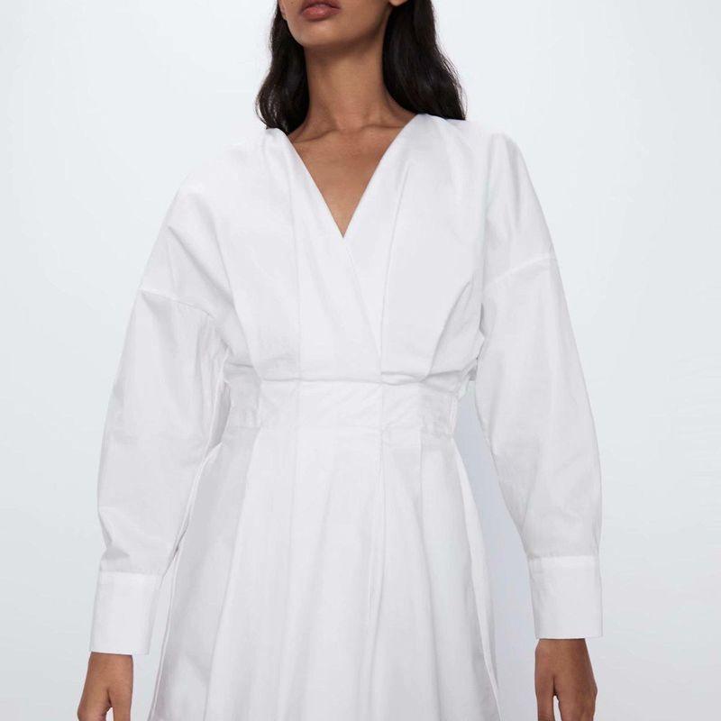 Fashion women 'dress new V-neck waist slimming dress NHAM201598
