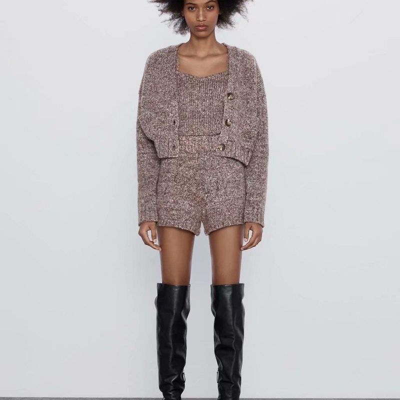 Fashion Wholesale Interwoven Knit Top NHAM201600
