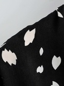 Wholesale new drawstring waist slim fit collar temperament floral long dress NHAM201608