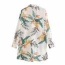 Wholesale Spring and Summer New Women39s French Leaf Print Shirt Casual Top NHAM201610