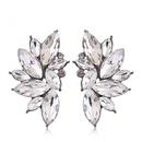 Fashion Metal Brilliant Gemstone Stud Earrings NHSC201775