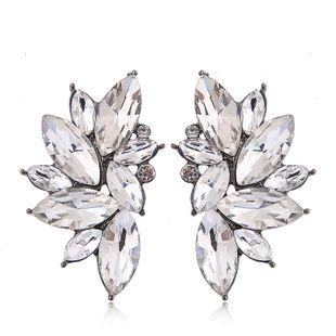 Aretes de metal brillante con piedras preciosas NHSC201775's discount tags