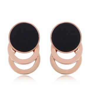Fashion Rose Gold Titanium Steel Simple Circle for women Earrings NHSC201774's discount tags